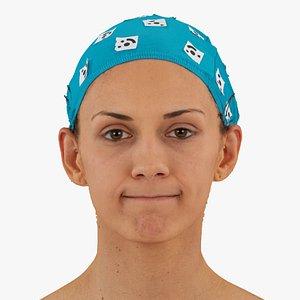 3D athena human head lip model