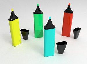 highlighter pen 3D model