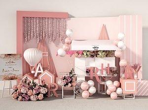 3D balloon wedding flower