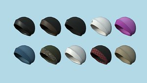 10 Beanie Winter Cap Collection - Character Fashion Design 3D model
