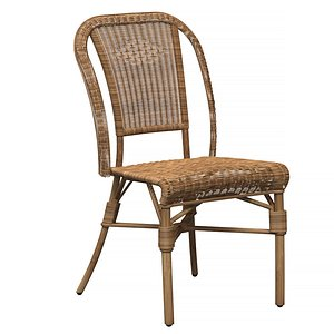 wicker chair albertine 3D model