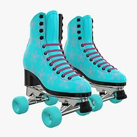 Quad roller skates with boots