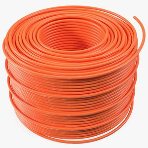 3D orange electrical conduit model