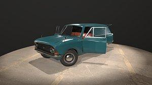 3D soviet car moskvich 433