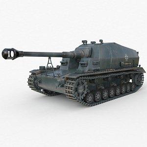 3D Tank K18 Auf Panzer Vray