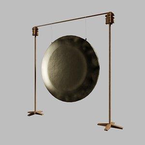 3D gong brass metalness model