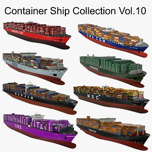 Container Ship Collection Vol.10 3D model