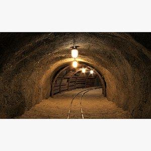 3D Mine tunnel 06