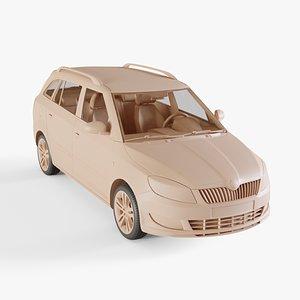 3D 2011 Skoda Fabia Combi model