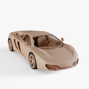 3D mclaren mp4-12c model