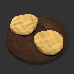 Medieval Butter Plate 3D model