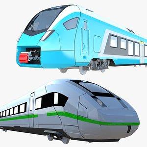 3D Stadler Flirt and ICE trains