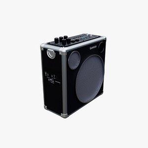 3D Lenco PA45 Portable Speaker model