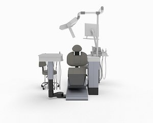 3D dental chair sirona model