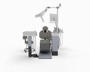 3D dental chair sirona model