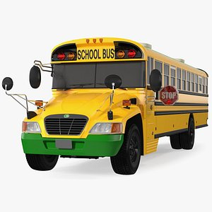 3D model Electric Blue Bird Vision School Bus Exterior Only