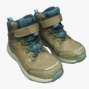 3D kids hiking boots model