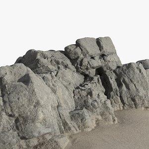 3D rock coast