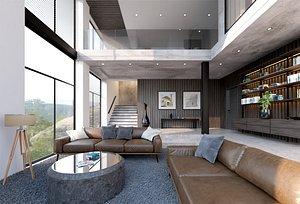 living room apartment model