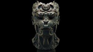 3D Wukong Monkey King Head Statue
