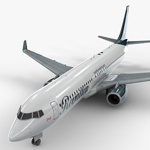3D boeing 737-8 sunwing airlines
