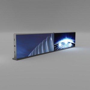 3D stadium advertising panel blender eevee
