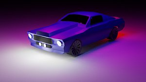 Ford GT500 LowPoly 3D model