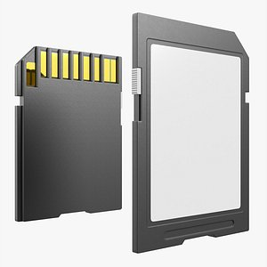card sd memory 3D model