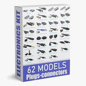 connectors electronics 3D model