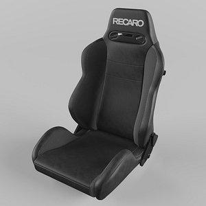 RECARO Speed Black Vinyl Saturn Black Seat 3D model