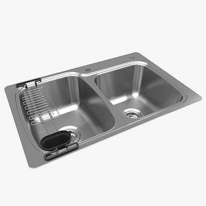 kitchen sink kohler 3D