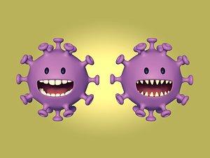 Cartoon Virus Character 3D