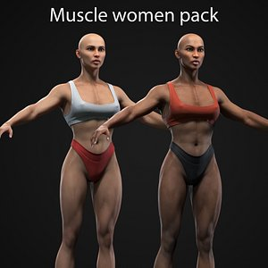 3D Muscle Women Collection