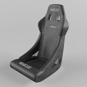 3D Sparco SPRINT Sports Racing Seat Leather Black(1) model