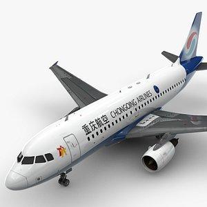 AirbusA319-100CHONGQING AirlinesL1417 3D