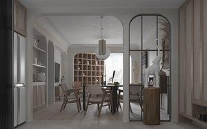 living interior room 3D model