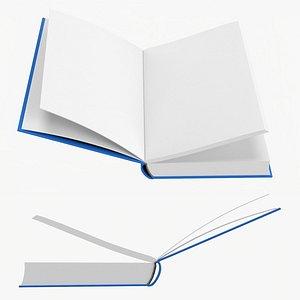 3D Open book mockup 05 model