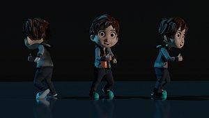 3D model Cartoon Boy Rigged 3D model