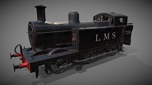 3D Low poly Jinty steam Engine model