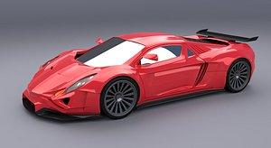 3D Eferox supercar concept model
