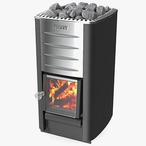 3D Harvia M3 Woodburning Sauna Stove