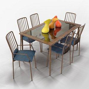 3D minimal dining model