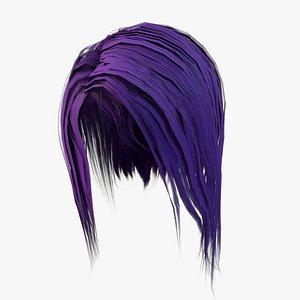 Elf Hair SEt Low-poly 3D model
