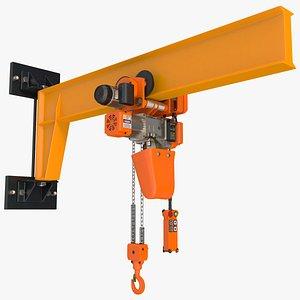 Pro Inch Beam Electric Chain Hoist 1T 3D model