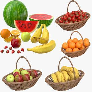 Large Fruits Collection 3D model