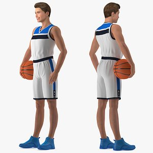 3D Teen Boy Basketball Rigged for Modo