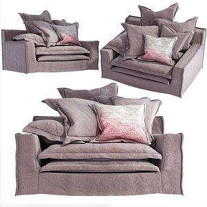 sofa linen 3D model
