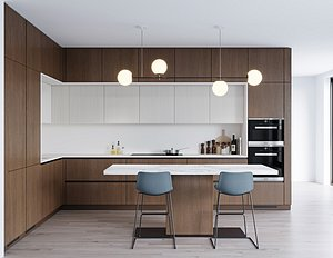 3D Modern kitchen 8
