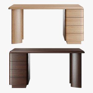 3D McGuire furniture - Column desk model
