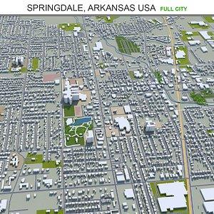 3D model Springdale  Arkansas USA